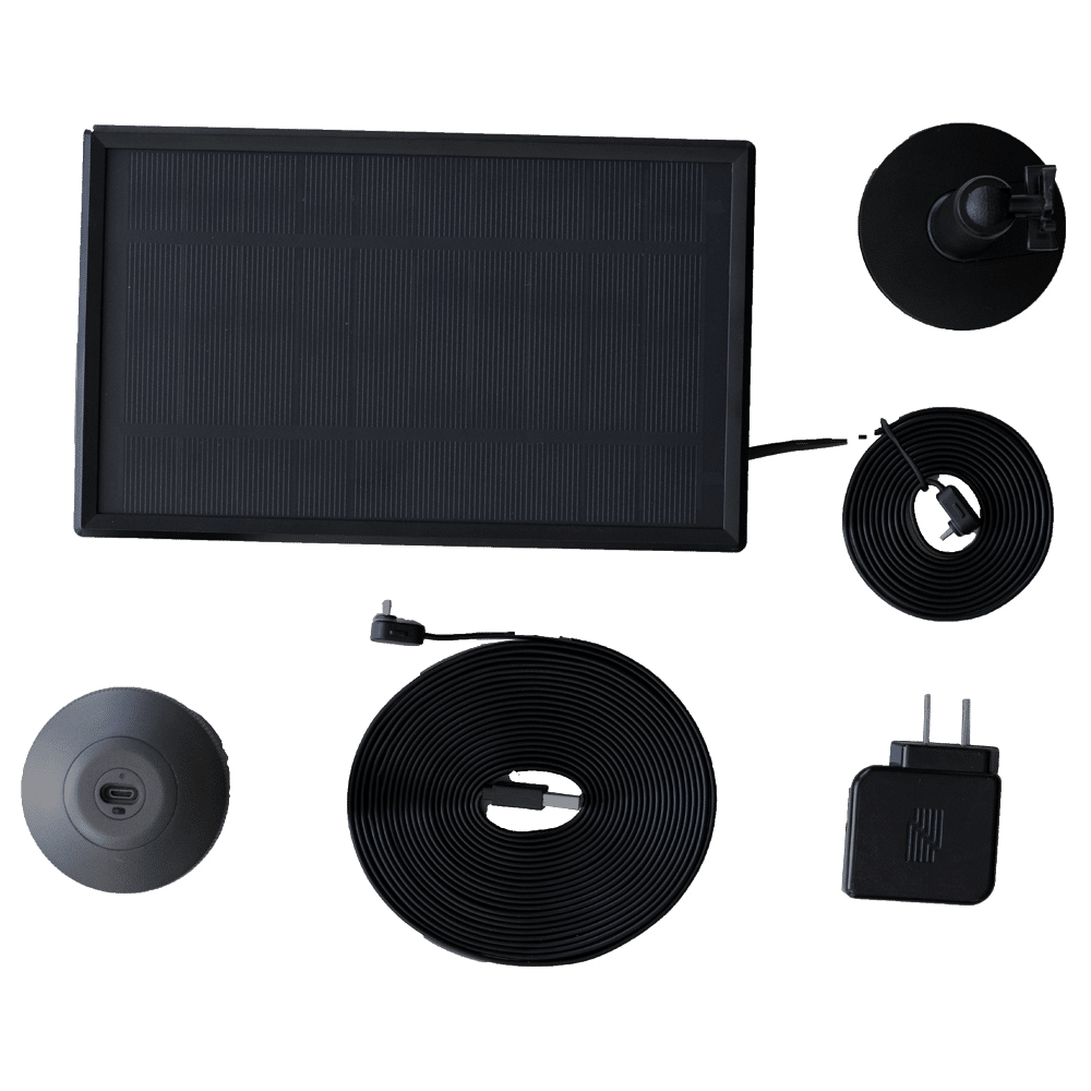 image of deep sentinel rechargeable usb battery and solar panel kits