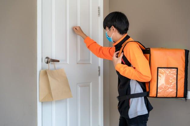 delivery at front door